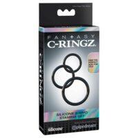 Fantasy C-Ringz Silicone 3-Ring Stamina Set - Black