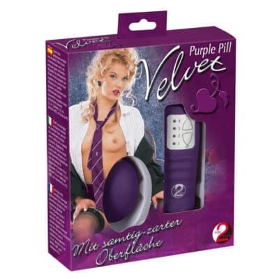 Velvet Purple Vibrator Æg