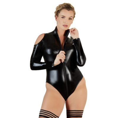 Cottelli Curves Wet-Look bodystocking