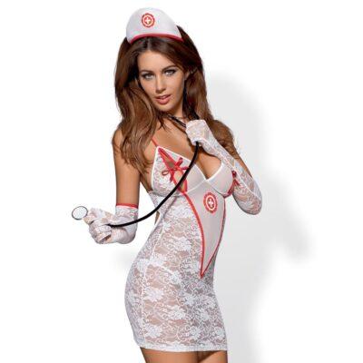 Obsessive sygeplejerske sæt 5 dele