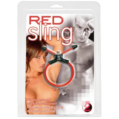 Red Sling Justerbar Penis Ring