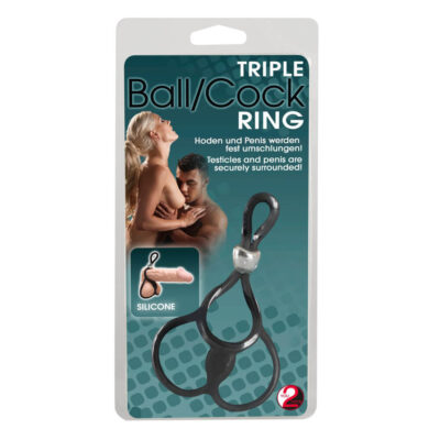 Triple Ball and Penis Ring