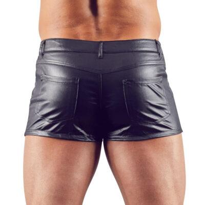 Læderlook shorts fra Sven Joyment