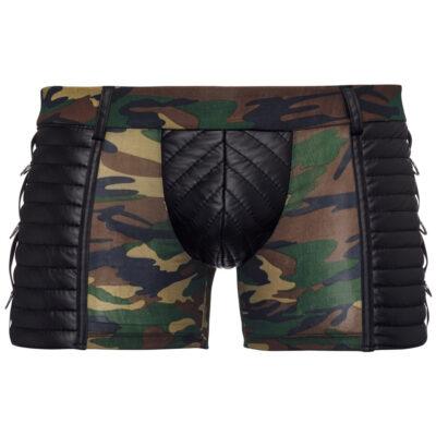 Korte boksershorts til mænd i camouflage