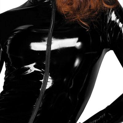 Noir Mini-kjole i Lak-Look