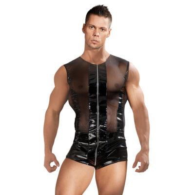 kort Bodysuit til mænd i lak fra Black Level