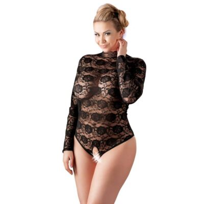 Cottelli Curves Bundløs Bodystocking Sort