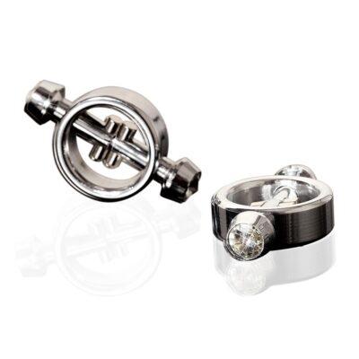Metal Worx magnetiske nippelklemmer - Sølv