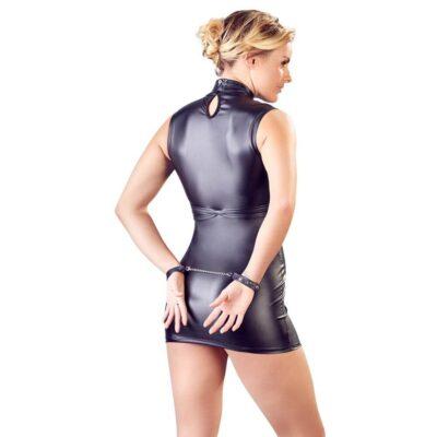 Cottelli Collection Bondage Wet-Look Kjole Sort