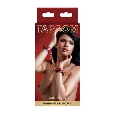 Taboom BDSM Luxus Håndjern Rød