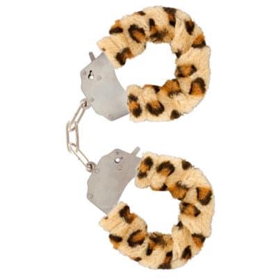 Toy Joy Håndjern med Leopard pels